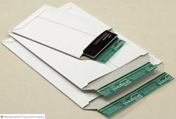 Vollpappe-Versandtaschen in weiß