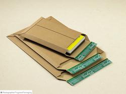 Wellpappe-Versandtaschen in braun